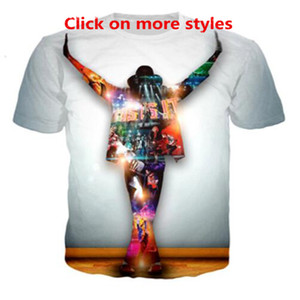 New Fashion Coppie Uomini Donne Unisex King of Pop Michael Jackson Divertente 3D Print No Cap Maglietta casual Maglietta Tee Top