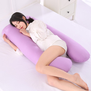 Sleeping Support Pillow para mujeres embarazadas Body 100% Cotton Pillowcase U Shape Maternity Pillows Pregnancy Side Sleepers Ropa de cama