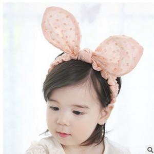 2018 Oreilles de lapin Bandeau Sweet Baby dentelle Hairwear filles PearlTurban infantile Props Photographie Bébé CHOUCHOU Vêtements Accessoires cheveux