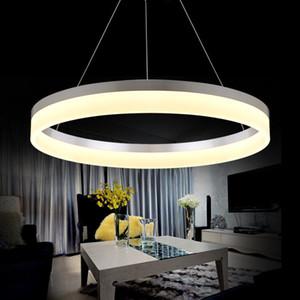 Nordic Kreis Acryl Pendelleuchte postmoderne Mode Schlafzimmer Fisch Line Restaurant Chandelier für Tagungsraum Study Lamp