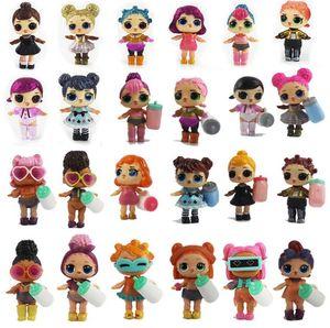 8-9 cm LOL BAMBOLA TUTTA serie baby Dolls Boneca Little Toys Dress Egg Drink Acqua Glitter Baby Doll Anime Brinquedos Figura Giocattoli Per Bambini Regali