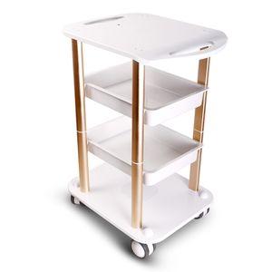 Elitzia ETTRO5 Beauty Salon Furniture Trolley Spa Styling Pedestal Rolling Cart Dos estantes Abs Aluminio