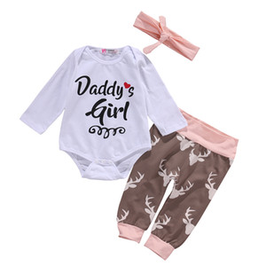New Fashion Newborn Toddler Baby Boys Girls Romper Long Sleeve O-Neck Coon Print Leer Playsuit Clothes Outfit Sets