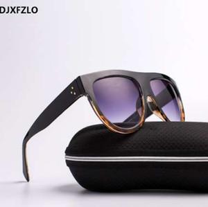 DJXFZLO 2018 Gafas Moda Mujer Gafas de Sol Diseñador de la marca de Lujo Gafas de sol de Gran Marco Completo Gafas Mujeres Gafas