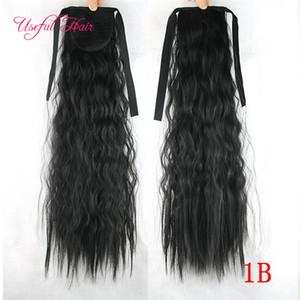 100g bellezza coda di cavallo posticci coulisse ponytails pettine coda di cavallo ricci capelli biondi extension clip nelle estensioni dei capelli per le donne nere