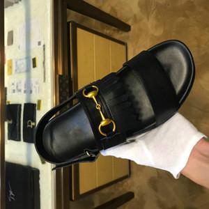 Pantofole di fascia alta dei sandali degli uomini superiori di lusso di tendenza scarpe stilista maschile 38-46 di alta qualità (con box)