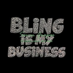 Bling é minhas transferências de calor do cristal de rocha do negócio para o vestuário