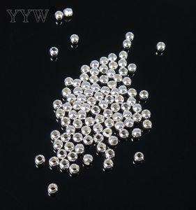 تم بيعها بواسطة شنطة Fashion Round Ball Spacer أصيلة 925 فضة الخرز 2/4/5/6/7/8/9 / 10mm اختيار DIY سحر مجوهرات
