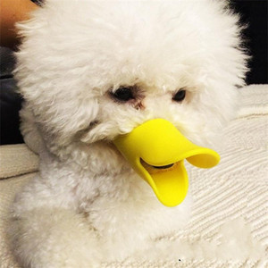 Perro pato pico Poodle mascota máscara Prevenir mordidas Maskes comer Prevenir Anti mordedura gel de sílice Boca hocico mascotas Suministros 4 5jj ff