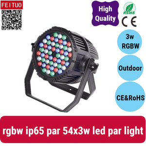 (4 / lot) açık 54 * 3w sahne ışık 54 * 3 rgbw ip 65 su geçirmez 54 * 3w par led par ışık