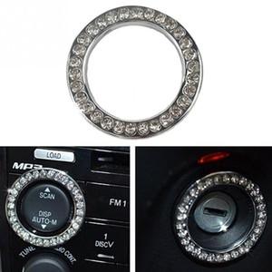 2X 2019 más nuevo del coche del botón interruptor de arranque Botón de interiores decoración del Rhinestone Anillo Auto Accesorios para el coche