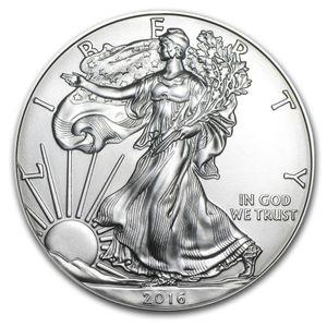 El orden de la muestra, envío libre 2016 monedas de 1 oz de plata American Eagle + 2016 la estatua de la libertad de monedas astilla