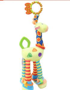 Infantes Macios Do Bebê Girafa Macio Girafa Animal Handbells Chocalhos Lidar Com Brinquedos Venda Quente Com Teether Bebê Brinquedo