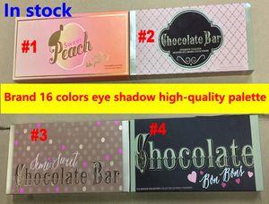 Sombra de ojos dulce de melocotón Sombra de paleta de barra de chocolate semi dulce Barra de chocolate / bon bont 16 colores Melocotones Sombra de ojos Maquillaje Cosmética