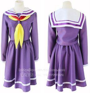 Shiro No Game No Life Cosplay Sora Costume Japanese Anime Uniforme escolar Sailor Dress Fantasia Mujeres adultas Disfraz de Halloween