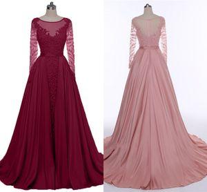 2020 Qualitäts-Wein-Rot-Abend-Kleider Schwere handgemachte lange Hülsen-Tanzparty-Kleider Bohnenpaste Long Tail Promkleider HY290