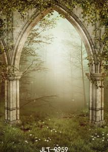 фантазии фотографии задники луговых портрет дверь Лесопарковая фотодонесение фон винила ткань для фотостудии фотосессии