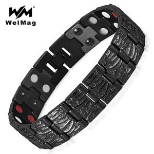 WelMag Titanium Magnetic Bracelets Bracelet Guérir 2 Rangées Soins de Santé s Germanium Bracelets Bijoux Bracelets Hologram