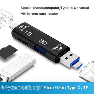 2020 новый 3 В 1 USB 3.1 Тип C Micro USB OTG USB устройство чтения карт памяти Устройство чтения карт Micro SDHC высокоскоростная с Pakcage