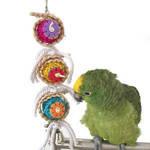 Parrot Toys Ball Pet Bird Bites Climb Chew Toys Hanging Cockatiel Parakeet Swing Parrot Jaula Bird Toys