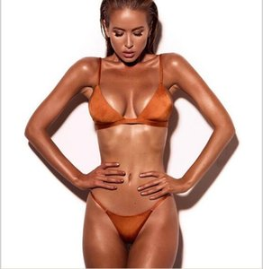 Горячее надувательство сексуальное бикини для женщин новые женские купальники Сплит чистый цвет красный бикини купальник оптом