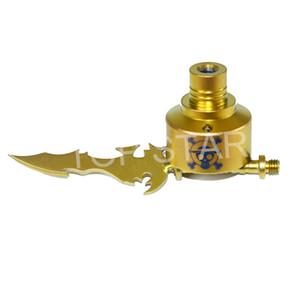 Nuovo stile dorato 14mm 18mm Cera Dab Carving Tool Colorato tipo spada titanio Dabber con titanio chiodo titanio Carb Cap