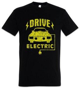 Fahren Sie elektrisches T-Shirt BEV EV Eletric Fahrzeug gehen grüne Energie-Spaß-Auto-Autos