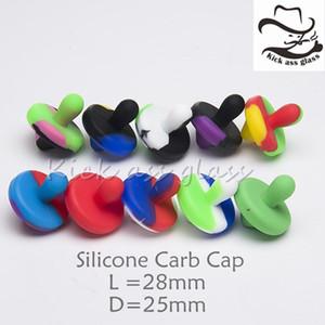 Silicone Carb Cap Dia 25mm Para 21.5mm 25mm Banger Nails Silicon Carb Cap Cores Misturadas Grau Alimentício Silicone Livre DHL 521