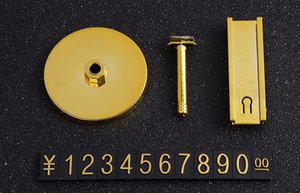 Supporto cartellino del prezzo tag in alluminio cartellino del prezzo in alluminio prezzo del metallo fondo rotondo in oro