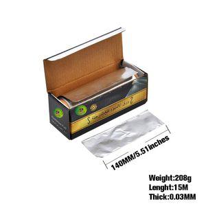 HONEYPUFF 1 Box Rectangular Aluminum Hookah Foil Paper Width 140MM Thickness 0.03MM Holes Hookah Shisha Chicha Charcoal Bowl