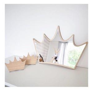 새로운 디자인 아이 침실 보육 장식 비산 방지 아크릴 거울 버니 크라운 하트 나비 클라우드 정원 벽 아트 장식 거울