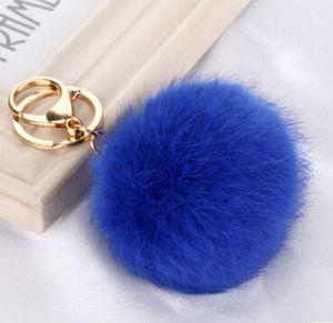 Gerçek Tavşan Kürk Topu Anahtarlık Yumuşak Kürk Topu Güzel Altın Metal Anahtar Zincirleri Topu Pom Poms Peluş Anahtarlık Araba Anahtarlık Çanta Küpe Aksesuarları 2