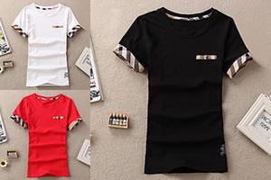 2018 Moda Yaz 2017 Moda Kadın V Yaka T-Shirt Pamuk Kadınlar Tops Tees Seksi Kısa Gömlek