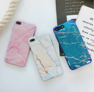 Gorgeous Blu-Ray Housing Back Cover Soft TPU Silicone IMD Phone Shell Laser Marble Case for iPhone X 6 6S 7 8 Plus