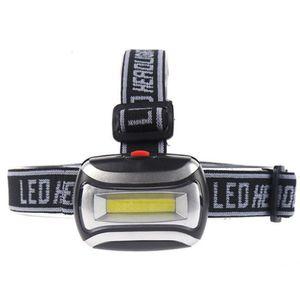 Torcia elettrica impermeabile COB fari a LED 3 Modalità 600LM faro 3x3A batteria esterna della lampada della testa di pesca d'escursione di campeggio di caccia della luce