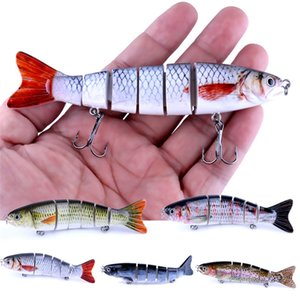 New Bionic Alive Musky Jointed Fishing bait 12.7cm 22g 3D Eyes 6 Segments swimbait Shad bass crankbait lure