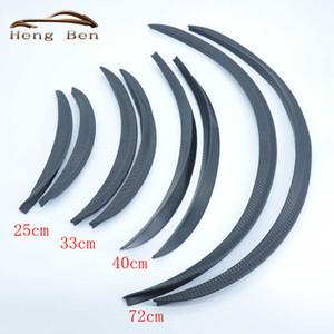 HB 2 Unids / set Estilo de Fibra de Carbono Fender Flares Universal Arch Wheel Cejas Proteger Ant-Scratch
