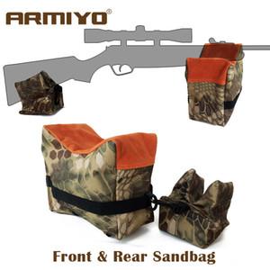 Armiyo Tactical Front y Rear Gun Bolsa de arena Soporte Rifle Bolsa de arena sin Sand Sniper Caza Target Soporte Accesorios de disparo