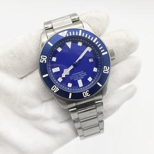 Горячие Продажи Мужские Часы Tuddor Blue Dial Автоматическое Механическое Движение Мужские Часы Из Нержавеющей Стали Мужской Наручные часы бесплатная доставка