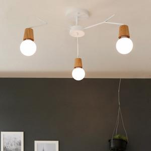 Nordic деревянный современный светодиодный потолочный светильник для дома гостиная спальня лампа светильник Lampara Techo E27 100-240V