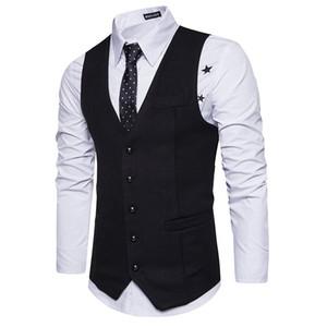 Neue Wollanzug Weste Männer Mode Einreiher Wolle Weste Weste Herren Dünne Hochzeit Business Smoking Westen Gilet Homme Großhandel