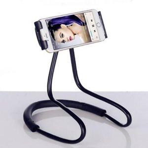 크리 에이 티브 머리맡의 게으른 매달려 목 전화 홀더 걸려 목 전화 플랫 넥 걸이 브래킷 휴대 전화 범용 브래킷