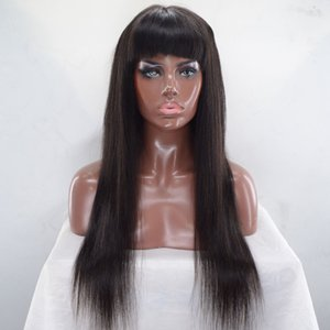 Pelucas llenas del pelo humano del cordón lleno con las explosiones Pelucas llenas del cabello humano del frente del cordón sin cola largas Glueless Venta directa de la Navidad de uso directo
