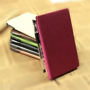 간단한 메모장 사업 사무실 Lmitation 가죽 펜으로 펜 수첩 책 Multi Color 5 4crKK