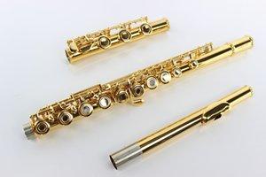 MARGEWATE MFL-500 высокое качество 17 отверстие Open C Tune E Key флейта профессиональные музыкальные инструменты Мельхиор позолоченный флейта с корпусом