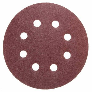 "Freeshipping New 30Pcs lot 5"" 8 Hole 120 Grit Sand Disc Random Orbit Sandpaper Hook and Loop Sanding Sander For Cleaning And Polishing"