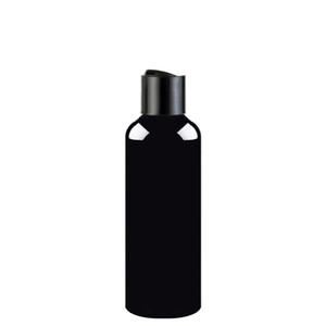 50pcs 100ml 150ml 200ml 250ml noir vide lotion crème cosmétique bouteille avec disque, 250cc bouteilles en plastique contenants shampooing bouteilles PET