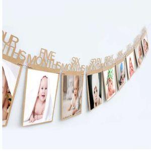 1st عيد ميلاد إطار الصورة 1-12 أشهر الطفل إطار الصورة استحمام الطفل صور حامل الاطفال هدية عيد غرفة ديكورات
