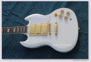 personalizado creme Amarelo sg mogno 3 pickups guitarra elétrica guitarra chinesa