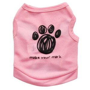 Cartoon Pet Dog Vest per cani di piccola taglia Summer Cat Pet Clothes For Dogs Pets Abbigliamento Cotton Dog Shirt Puppy Costume